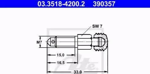 ATE 03.3518-4200.2 - Gaisa vārsta/-ventiļa skrūve interparts.lv