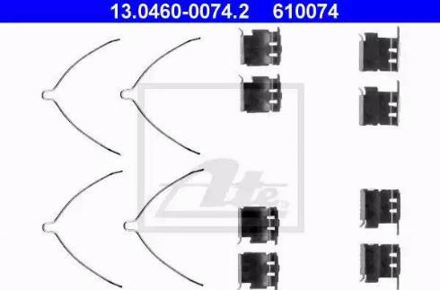 ATE 13.0460-0074.2 - Piederumu komplekts, Disku bremžu uzlikas interparts.lv