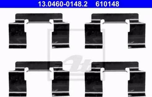 ATE 13.0460-0148.2 - Piederumu komplekts, Disku bremžu uzlikas interparts.lv