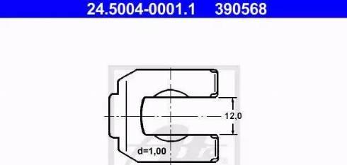 ATE 24.5004-0001.1 - Kronšteins, Bremžu šļauka interparts.lv