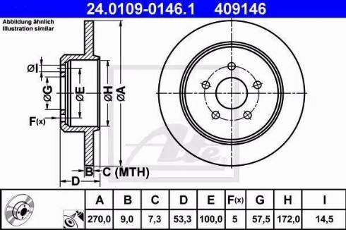 ATE 24.0109-0146.1 - Bremžu diski interparts.lv