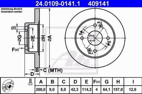ATE 24.0109-0141.1 - Bremžu diski interparts.lv