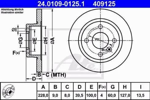 ATE 24.0109-0125.1 - Bremžu diski interparts.lv