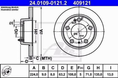 ATE 24.0109-0121.2 - Bremžu diski interparts.lv