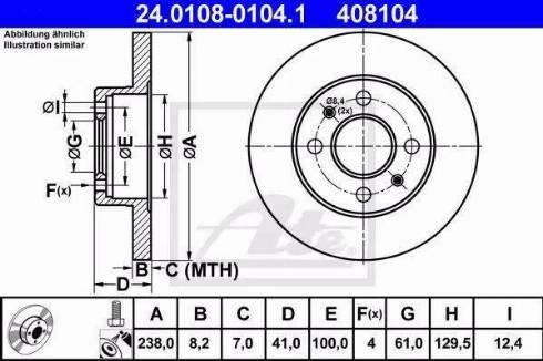 ATE 24.0108-0104.1 - Bremžu diski interparts.lv