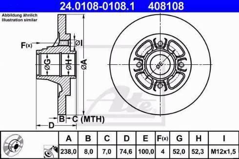 ATE 24.0108-0108.1 - Bremžu diski interparts.lv