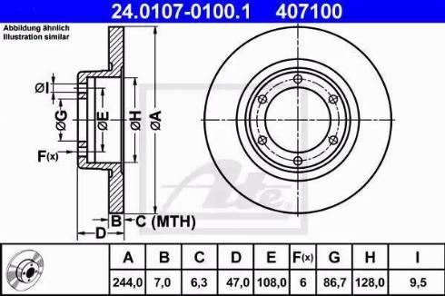 ATE 24.0107-0100.1 - Bremžu diski interparts.lv