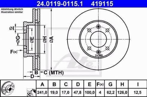 ATE 24.0119-0115.1 - Bremžu diski interparts.lv