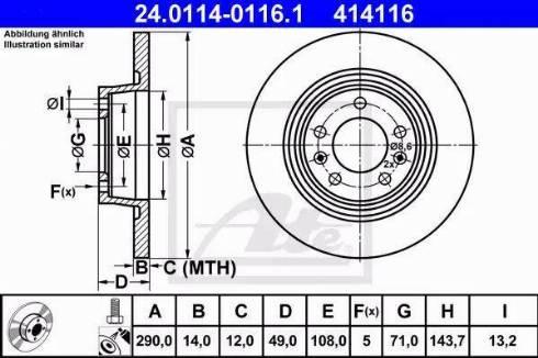 ATE 24.0114-0116.1 - Bremžu diski interparts.lv