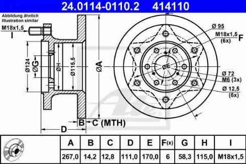 ATE 24.0114-0110.2 - Bremžu diski interparts.lv