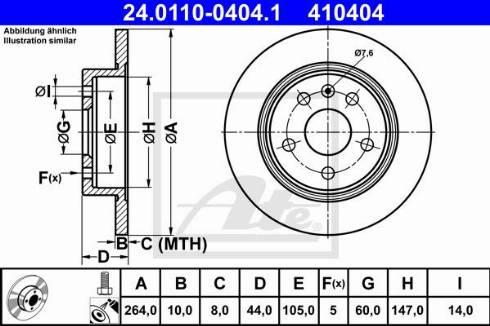 ATE 24.0110-0404.1 - Bremžu diski interparts.lv