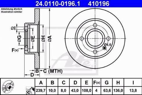 ATE 24.0110-0196.1 - Bremžu diski interparts.lv