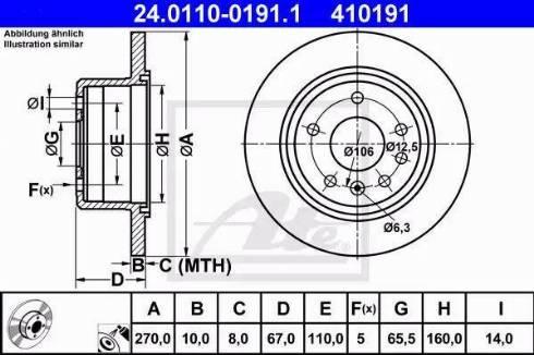 ATE 24.0110-0191.1 - Bremžu diski interparts.lv