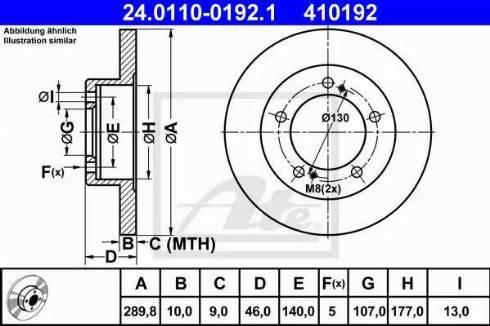 ATE 24.0110-0192.1 - Bremžu diski interparts.lv