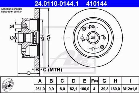 ATE 24.0110-0144.1 - Bremžu diski interparts.lv
