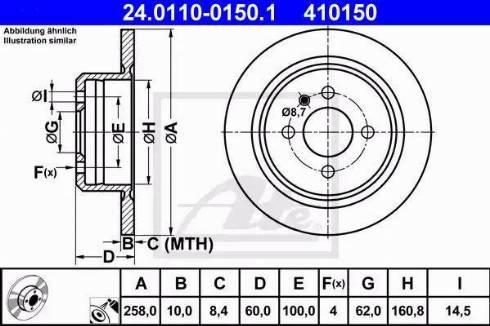 ATE 24.0110-0150.1 - Bremžu diski interparts.lv