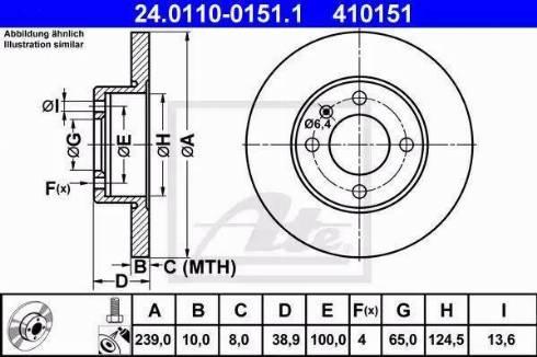 ATE 24.0110-0151.1 - Bremžu diski interparts.lv