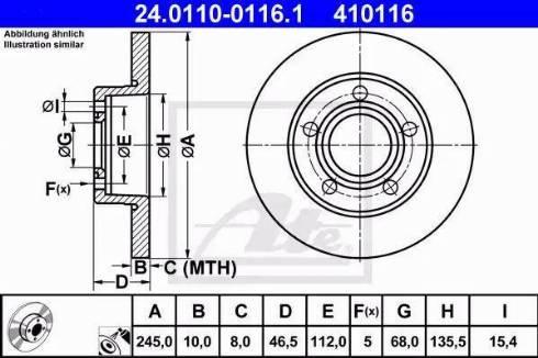 ATE 24.0110-0116.1 - Bremžu diski interparts.lv