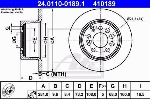 ATE 24.0110-0189.1 - Bremžu diski interparts.lv