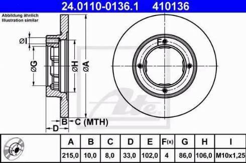 ATE 24.0110-0136.1 - Bremžu diski interparts.lv