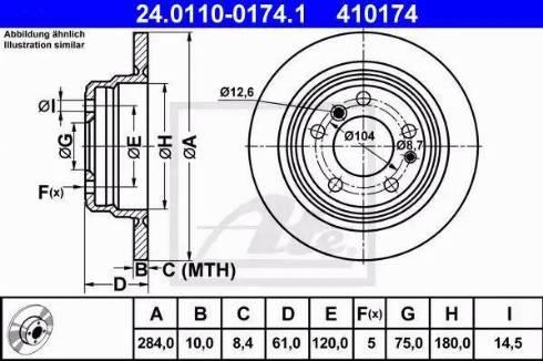 ATE 24.0110-0174.1 - Bremžu diski interparts.lv