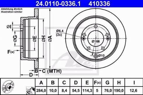ATE 24.0110-0336.1 - Bremžu diski interparts.lv