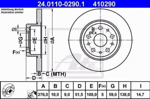 ATE 24.0110-0290.1 - Bremžu diski interparts.lv