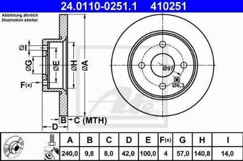 ATE 24.0110-0251.1 - Bremžu diski interparts.lv