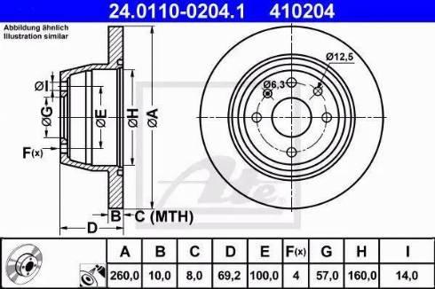 ATE 24.0110-0204.1 - Bremžu diski interparts.lv