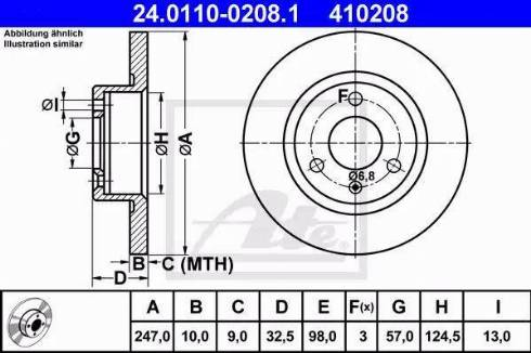 ATE 24.0110-0208.1 - Bremžu diski interparts.lv