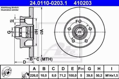 ATE 24.0110-0203.1 - Bremžu diski interparts.lv