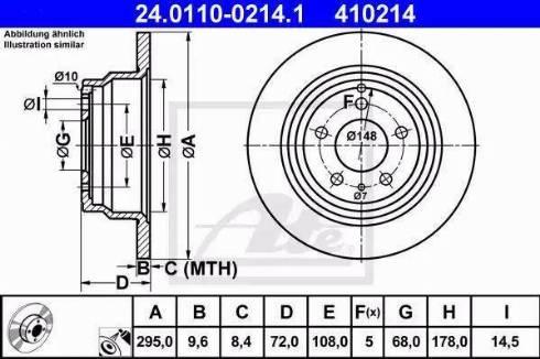 ATE 24.0110-0214.1 - Bremžu diski interparts.lv