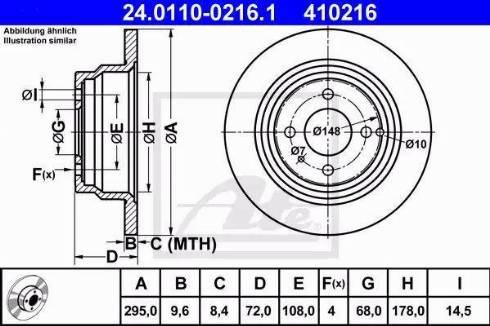 ATE 24.0110-0216.1 - Bremžu diski interparts.lv