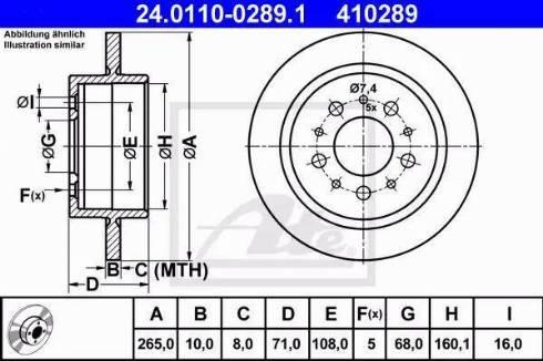 ATE 24.0110-0289.1 - Bremžu diski interparts.lv