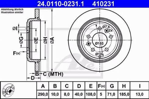 ATE 24.0110-0231.1 - Bremžu diski interparts.lv
