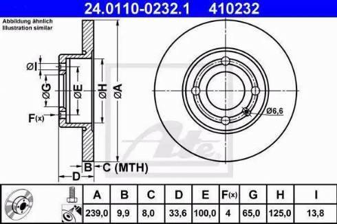 ATE 24.0110-0232.1 - Bremžu diski interparts.lv