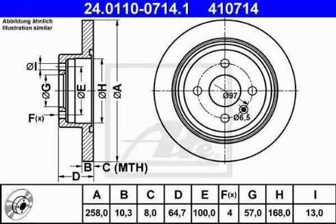 ATE 24.0110-0714.1 - Bremžu diski interparts.lv