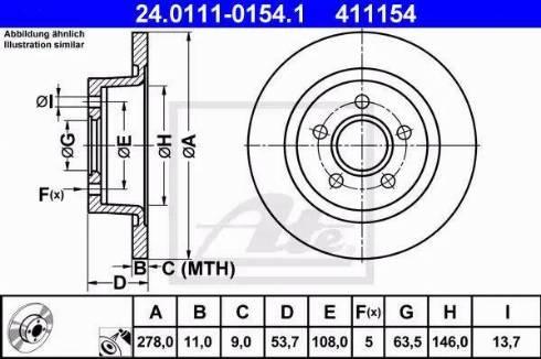 ATE 24.0111-0154.1 - Bremžu diski interparts.lv