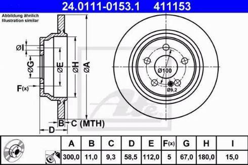ATE 24.0111-0153.1 - Bremžu diski interparts.lv