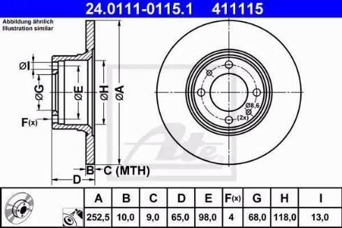 ATE 24.0111-0115.1 - Bremžu diski interparts.lv