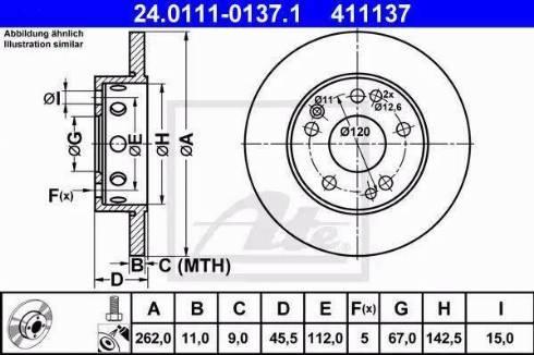 ATE 24.0111-0137.1 - Bremžu diski interparts.lv