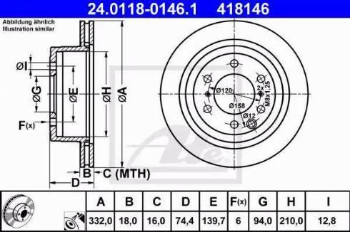 ATE 24.0118-0146.1 - Bremžu diski interparts.lv