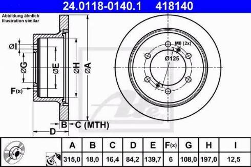 ATE 24.0118-0140.1 - Bremžu diski interparts.lv