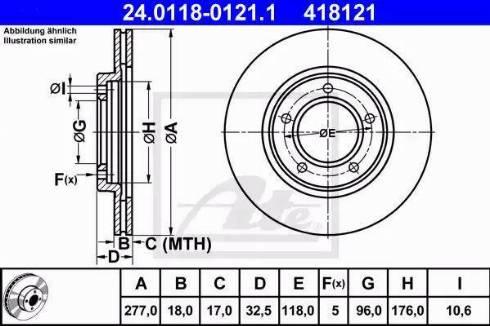 ATE 24.0118-0121.1 - Bremžu diski interparts.lv