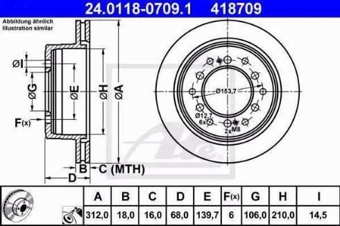ATE 24.0118-0709.1 - Bremžu diski interparts.lv