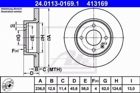 ATE 24.0113-0169.1 - Bremžu diski interparts.lv