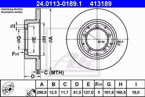 ATE 24.0113-0189.1 - Bremžu diski interparts.lv