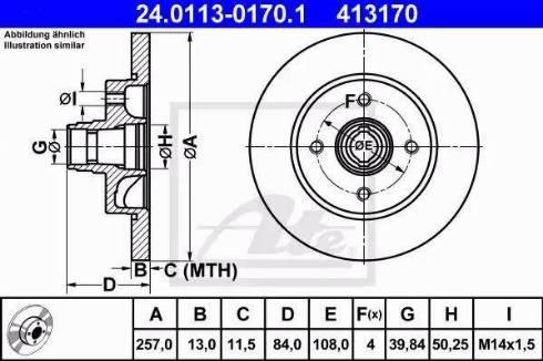 ATE 24.0113-0170.1 - Bremžu diski interparts.lv