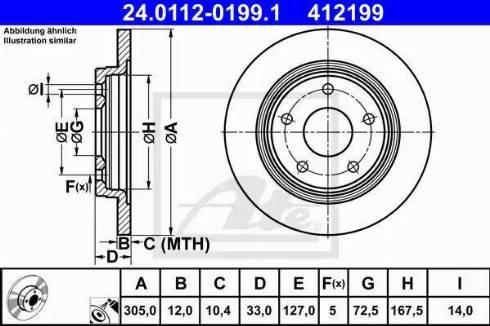 ATE 24.0112-0199.1 - Bremžu diski interparts.lv