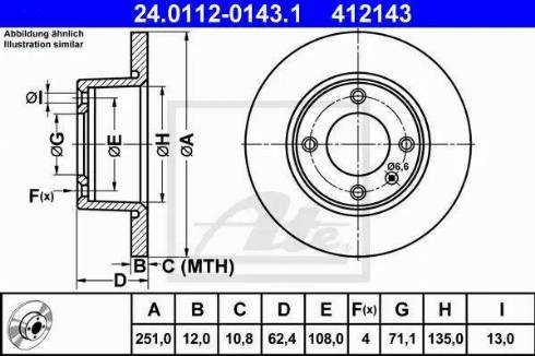 ATE 24.0112-0143.1 - Bremžu diski interparts.lv